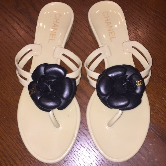 881f2ae84 CHANEL Shoes - Authentic CHANEL Flower Flip Flop